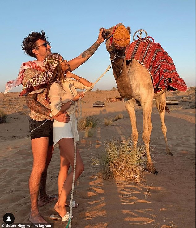 Maura Higgins and boyfriend Chris Taylor enjoy a trip to the desert in Dubai