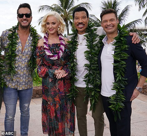 Night: He is also the star of American Idol with Luke Bryan, Lionel Richie and Katy Perry