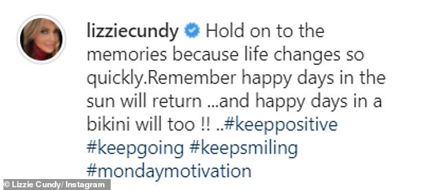 Stay positive: Former WAG accompanied the post with an optimistic message for their fans