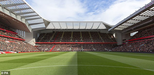 The latest expansion of Enfield Road Stand has a capacity of 61,000.  will exceed