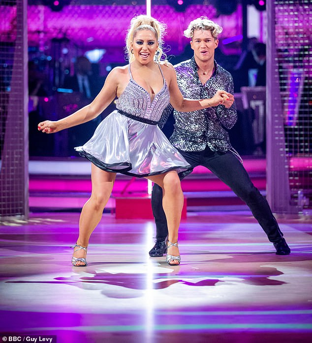 Dancing star: Saffron became mainstream when she landed a coveted role in Strictly Come Dancing last year, where she was paired with AJ Pritchard