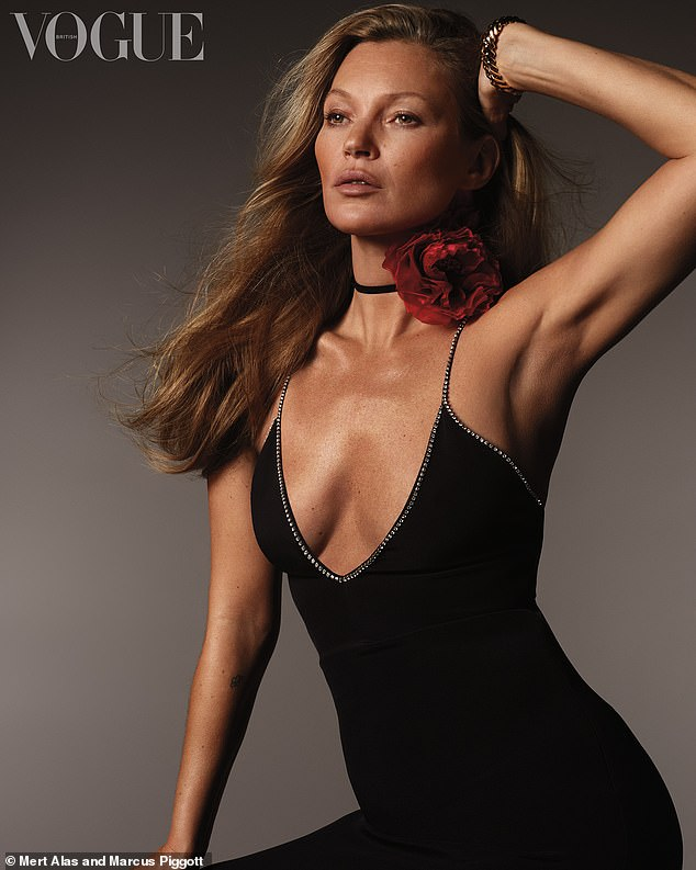 Wow! Kate Moss, 46, showed off her age-defying beauty in stunning shoot as she graced the cover of British Vogue on Monday 28 YEARS after her debut with the magazine