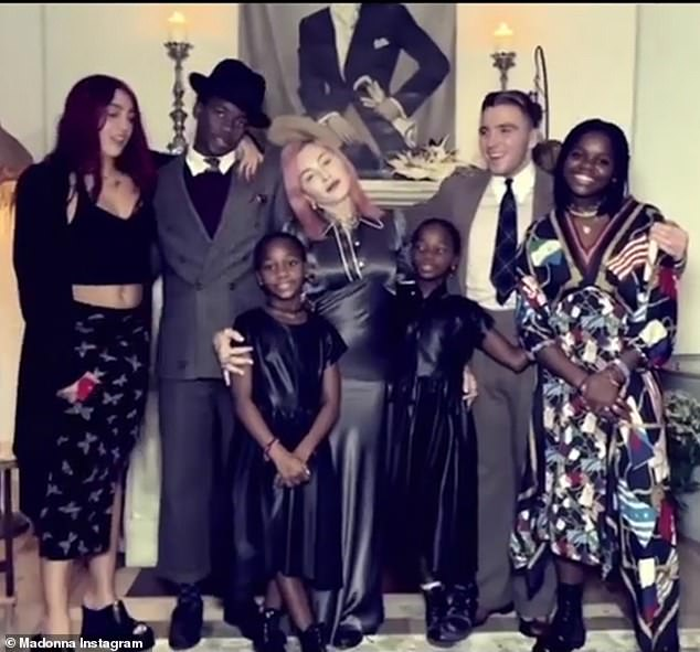 Family reunion: It's a rare opportunity for Madonna to have her six descendants under one roof, as it did during the Thanksgiving holiday