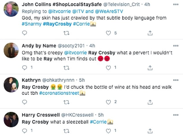 Reaction: Dozens of fans criticized Ray on Twitter, with many claiming he was a 'sleezeball'