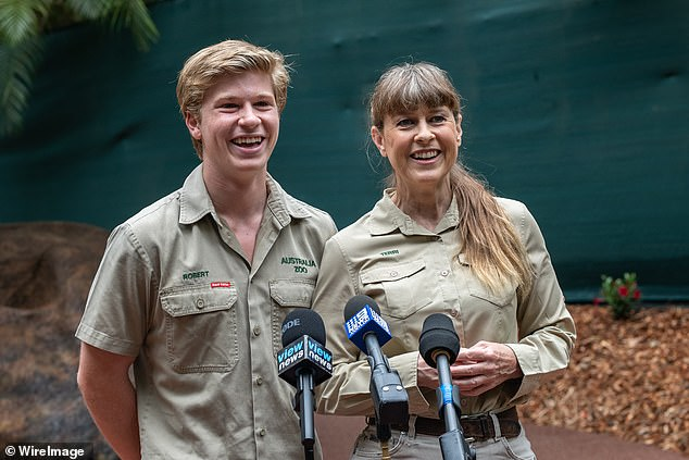Robert Irwin is the spitting image of his late father Steve on his 17th birthday