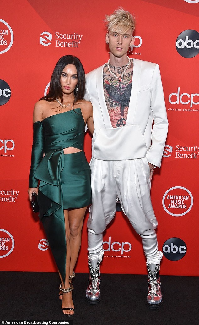 In love: The rapper, 30, recently revealed that his new romance with Megan Fox, 34, has inspired him to start therapy.The couple made their red carpet debut at the AMA's last week