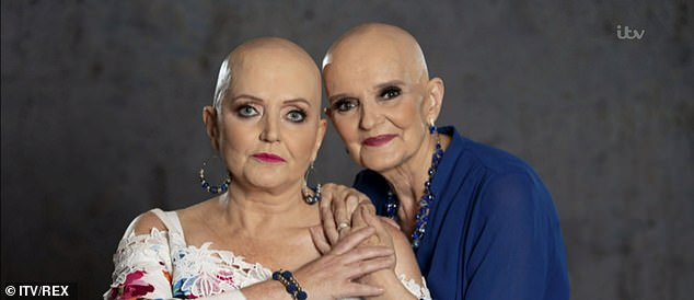 Close: Anne Nolan was diagnosed with breast cancer in June alongside her younger sister Linda, who is battling secondary cancer and has also received chemotherapy treatment