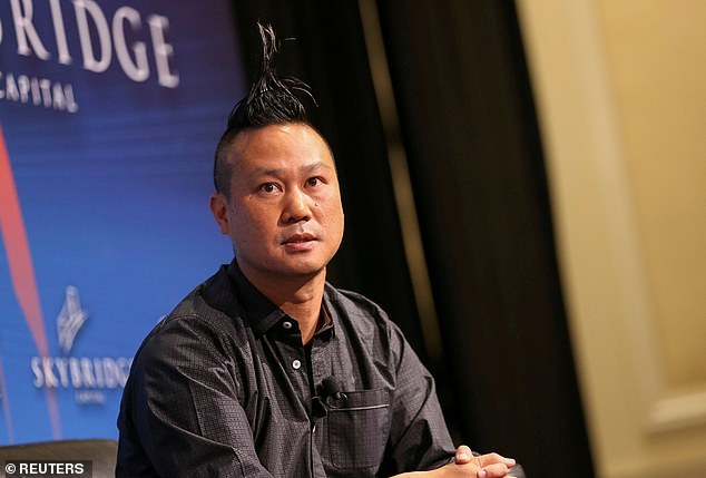 Online shoe magnate Tony Hsieh was barricaded inside a storage area when the blaze that took his life broke out, according to the fire department dispatch tape obtained by DailyMail.com