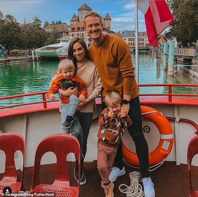 Family of five:The couple are already parents to sons Milo, six, and Rex, three