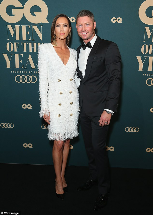 Friendly exes: Michael Clarke has praised his ex-wife, Kyly Clarke, for her 'kind heart' while speaking about co-parenting their six-year-old daughter, Kelsey Lee. Pictured in 2018