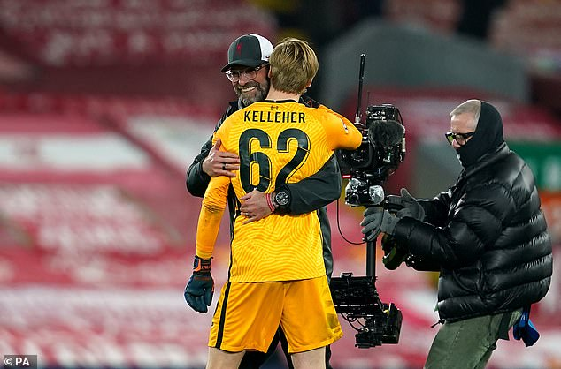Klopp was indebted to rookie goalkeeper Caoimhin Kelleher for his Champions League debut