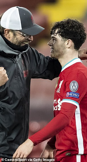 Klopp kisses Neco Williams after the match
