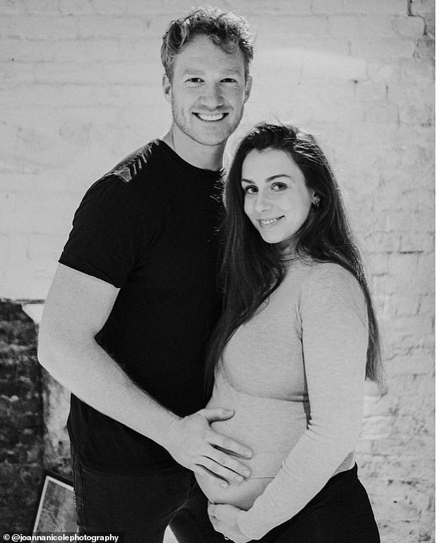 Greg Rutherford cradles his pregnant fiancée Susie Verrill's blooming bump in stunning snaps