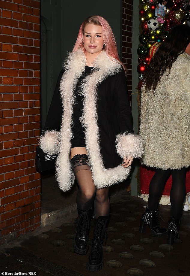 Lottie Moss puts on a racy display as she heads for dinner after end of national lockdown