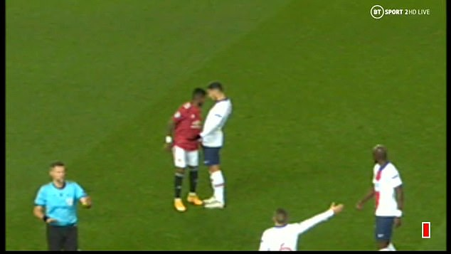 Video replays showed Fred headbutting PSG's Leandro Paredes in Wednesday's clash