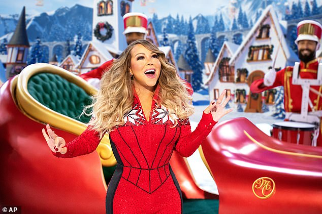 "'I sat there and said ""wait a minute - i better get some Christmas decorations because what if people get all the decorations?""Mariah said in March that when panic shopping started in New York City, she worried about the lack of Christmas decorations."