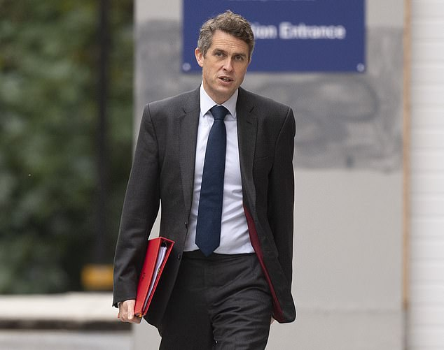 Education Secretary Gavin Williamson, pictured, is determined to hold exams in England next year. Officials in Wales have already cancelled next year's exams while Scotland has decided their version of GCSEs will be determined by assessment