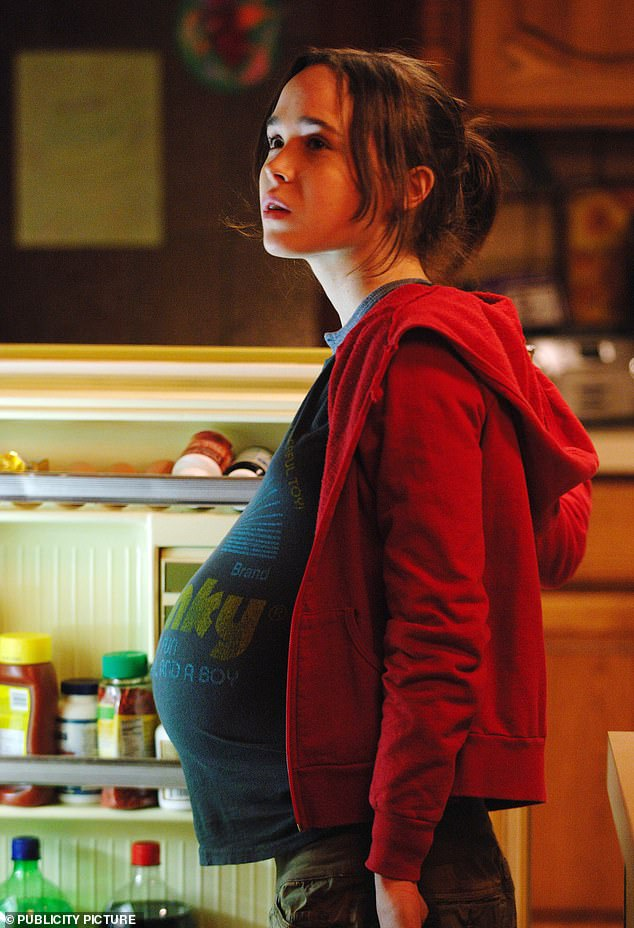Breakthrough: Elliot first found fame for starring as a pregnant teenager in the hit 2007 movie Juno, for which they earned an Oscar nomination