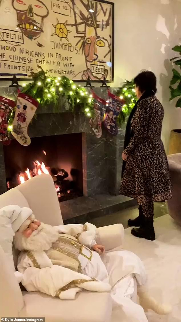 It's beginning to look a lot like Christmas! Kylie Jenner has shown off the very merry Christmas decorations adorning her vacation home in Lake Tahoe