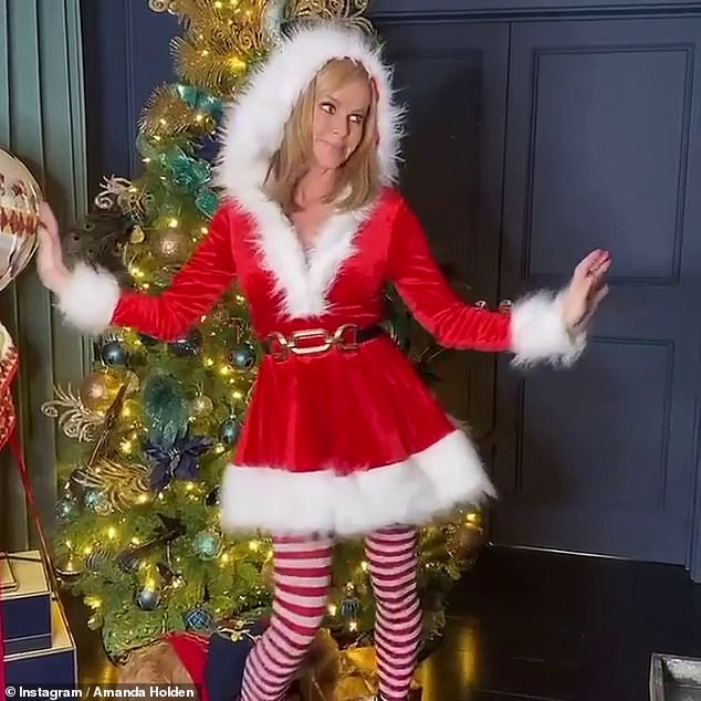 Feeling festive:Earlier in the week, Amanda discussed the importance of the holiday season in honour of her new track