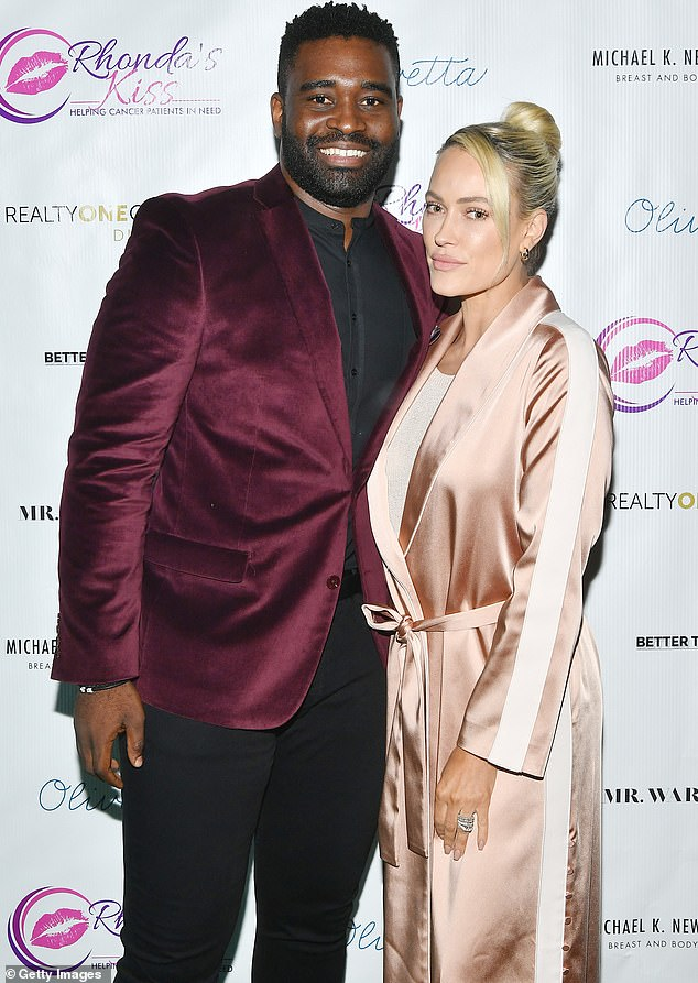 Origin story: Chrishell and Keo became a couple while competing against each other on the latest season of Dancing With The Stars; here he is seen with Peta Murgatroyd