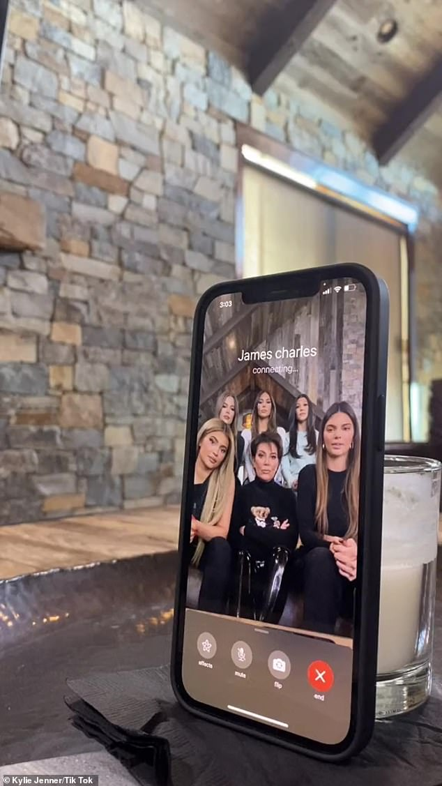 The squad is here: While on vacation the family had a little fun as Kylie posted a TikTok where she and her sisters and mom Kris Jenner, went through their famous phone rolodex and prank FaceTimed some of their closest friends