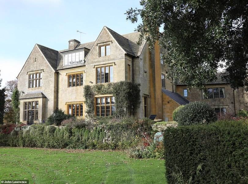 It would represent a delicious profit of £9.92million, as she bought the 17th-century manor house (above) in Chastleton Glebe, Gloucestershire, with her first husband, author Rayne Kruger, for a reported £80,000