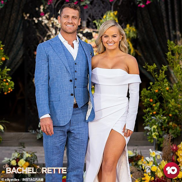 Happier times: Elly and Frazer found love on the most recent season of The Bachelorette, which aired its finale in November