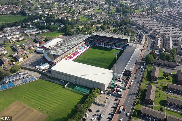 On the map! Burnley FC and its stadium Turf Moor (pictured) have garnered attention ever since they were mentioned on I'm A Celebrity by the BBC Radio 1 DJ