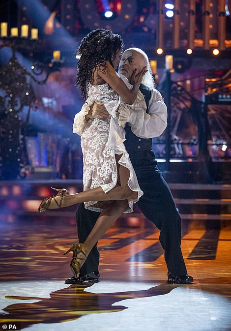 Feeling it: The partnersdanced the Argentine Tango to the Phantom Of The Opera
