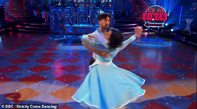 Incredible: The duo sizzled on the dancefloor and ended up with an impressive score of 27