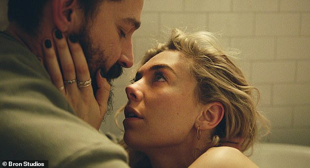 More recently: Shia acted in this year¿s The Tax Collector as well as Pieces of a Woman, the latter costarring The Crown¿s Vanessa Kirby (pictured)