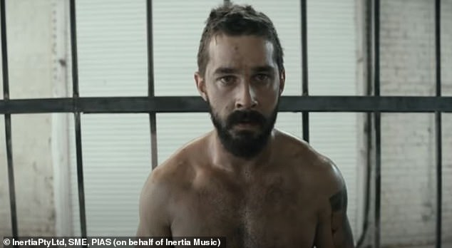 Scruffy: Shia's facial hair was similar to his appearance in Sia's music video for Elastic Heart
