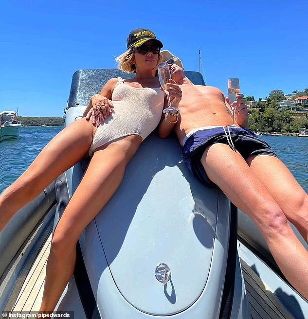 Nice day for it:Earlier in the day, the pair shared a number of Instagram photos from their day out on Sydney Harbour