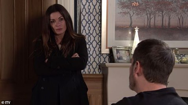 Ouch! The former pub landlord (Chris Gascoyne) suffered a relapse with his alcoholism after his on-off girlfriend Carla Connor (Alison King, pictured) cheated on him with his nephew