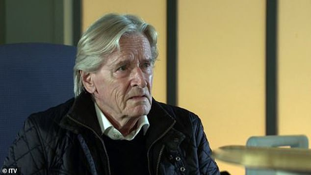 Worried: Solicitor Adam discovers his uncle's issues and leaks the news to Peter's father Ken (Bill Roache, pictured)