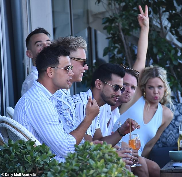 Three-day bender? After a string of social engagements, contestants from The Bachelor and The Bachelorette enjoyed yet another day of partying at Sydney's Cruise Bar on Sunday