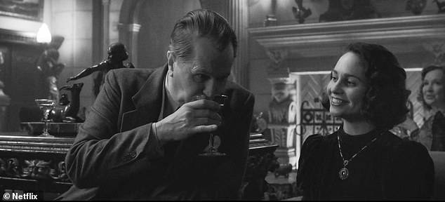 Talent: She stars as the secretary of Herman J. Mankiewicz, who co-wrote Citizen Kane with Orson Welles, who directed and played the title character