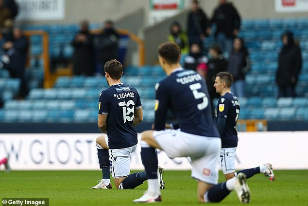 It comes after Millwall fans booed players taking the knee before their game against Derby