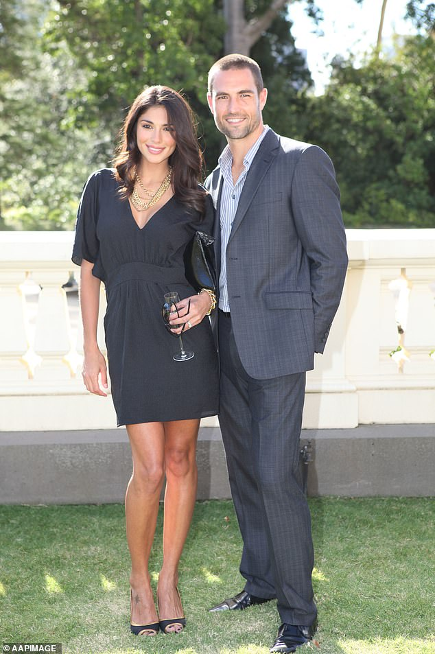 Exes:The pair seemed to have a blessed life, with Pia giving birth to their son, Lennox, in late 2006. She married the retired Richmond player the following year, but ended things in 2015