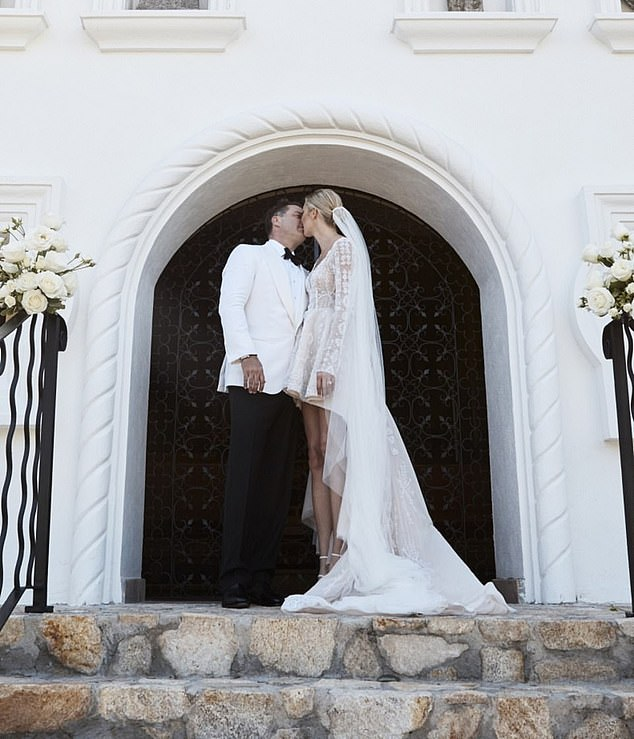 Mr and Mrs Stefanovic: The pair married in front of 200 of their closest friends and family