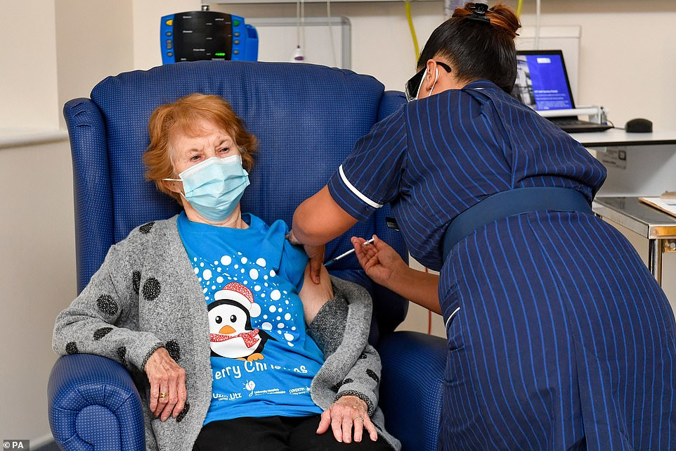 Roll up your sleeves for V-DAY: First Britons to get Pfizer Covid jab arrive at hospitals