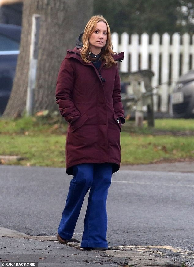 Joanne Froggatt films scenes for new ITV thriller Angela Black