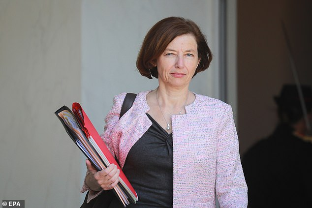 Armed Forces Minister Florence Parly (pictured) said France was not preparing to immediately implant microchips into its soldiers