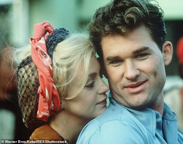True love never dies: Goldie Hawn revealed the secret to a successful relationship, after being with partner Kurt Russell for over 38 years (pictured together in 1984)