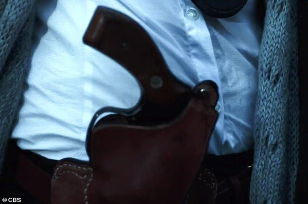 Familiar images: It then references Silence of the Lambs, showing Clarice's holstered gun