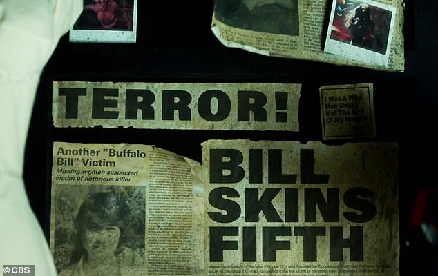 Current events: The clip then cuts to a newspaper clipping with the headline: 'Bill Skins Fifth'