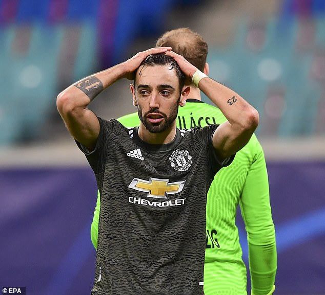 Bruno Fernandes couldn't prevent United's loss to RB Leipzig and their subsequent elimination
