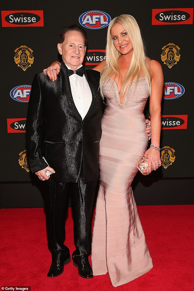 Financially independent:Brynne, who once flaunted her lavish lifestyle on reality TV show My Bedazzled Life, said she'd recently landed a job at a karaoke bar and was able to support herself. Pictured on September 23, 2013, in Melbourne