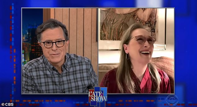 The 71-year-old acting legend lamented on Monday's The Late Show with Stephen Colbert:'We had our first scene on Friday, and I was so bad...I just like completely lost it, I couldn't remember anything. But I'm sure it'll be fine in the edit'